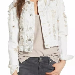 🦋 Hudson garrison ripped cropped jacket NWT
